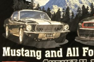 mustang car club printed on poly performance shirts